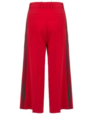 Web viscose culotte trousers GUCCI