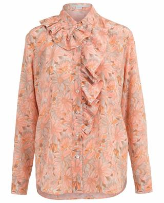 Floral printed silk ruffled shirt STELLA MCCARTNEY