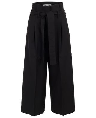 Pantalon large raccourci taille paperbag STELLA MCCARTNEY