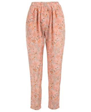 Floral printed light-weight silk trousers STELLA MCCARTNEY