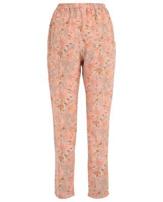 Pantalon léger en soie fleurie STELLA MCCARTNEY