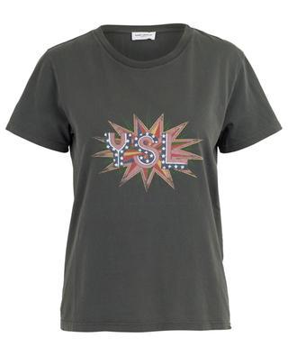 T-shirt en coton avec imprimé YSL SAINT LAURENT PARIS