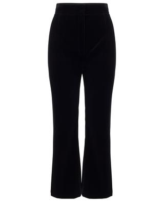 Pantalon droit taille haute en velours SAINT LAURENT PARIS