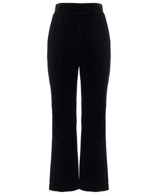 Velvet straight high-rise trousers SAINT LAURENT PARIS