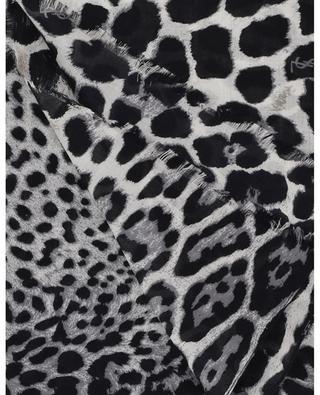 Foulard en soie léopard SAINT LAURENT PARIS