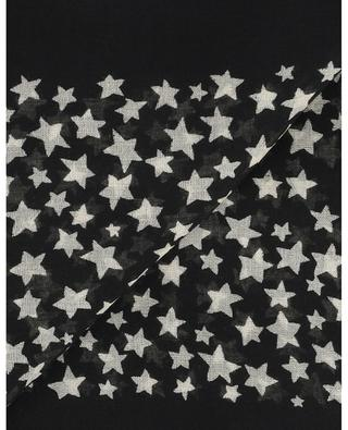 Star print square wool shawl SAINT LAURENT PARIS