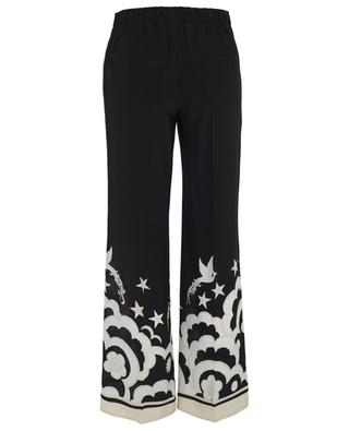 Phoenix printed silk blend trousers VALENTINO
