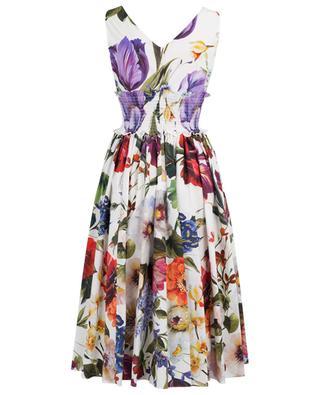 Robe évasée en popeline Hydrangea and Flowers DOLCE & GABBANA