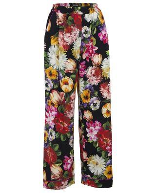 Weite geblümte Hose im Pyjama-Stil Flowers Mix DOLCE & GABBANA