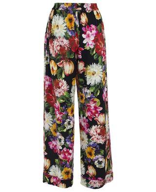 Pantalon large fleuri esprit pyjama Flowers Mix DOLCE & GABBANA