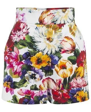 Short taille haute à imprimé fleuri DOLCE & GABBANA