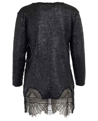 Mini robe en coton enduit et dentelle ERMANNO SCERVINO