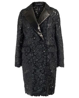 Manteau en dentelle aspect cuir ERMANO SCERVINO