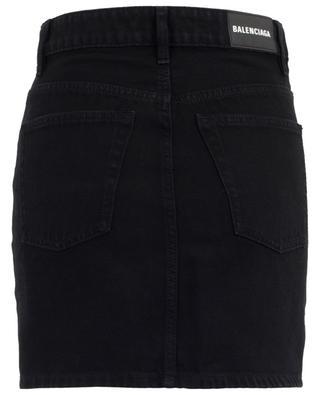 Minijupe en jean noir BALENCIAGA