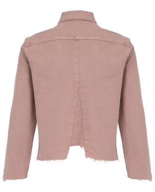 Le Jacket Triangle Gusset Dusty Rose denim jacket FRAME