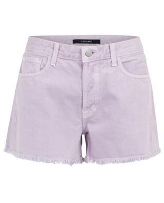 Shorts mit hohem Taillenbund und Fransen Gracie J BRAND