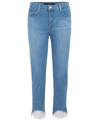 Gekürzte Jeans mit hohem Taillenbund und Spitze Ruby J BRAND