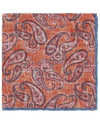 Easy paisley printed silk pocket square ROSI COLLECTION