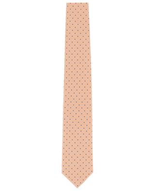 Cravate fleurie en soie Martin ROSI COLLECTION