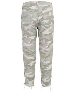 The Shaker Chop Crop Fray Desert Print camo trousers MOTHER