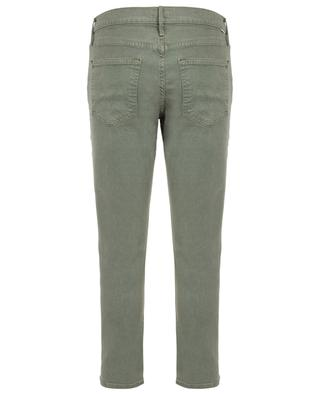 The Ditcher Ankle Army Green cropped jeans MOTHER