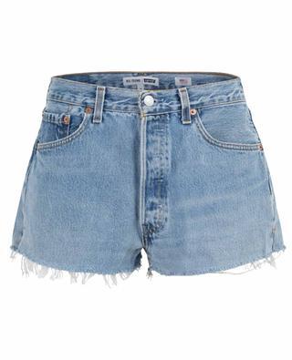 Short en jean délavé The Short RE/DONE