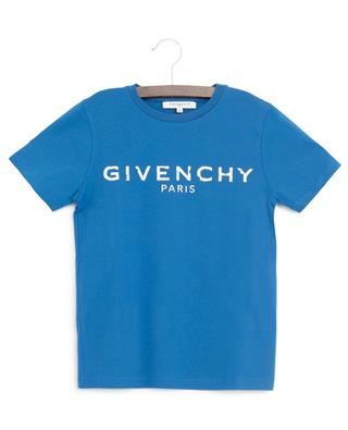 T-Shirt aus Jersey mit Used-Look-Logo GIVENCHY