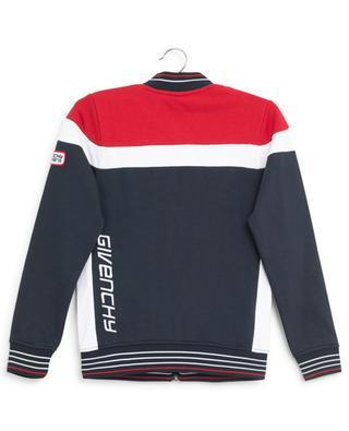Sweat-shirt zippé tricolore Givenchy Paris GIVENCHY