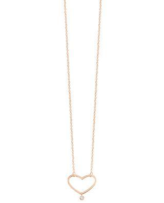 Collier en or rose avec diamant Angie VANRYCKE