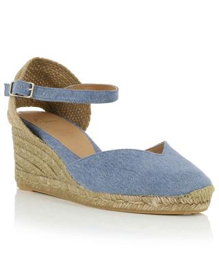 Chiarita 50 washed canvas wedge espadrilles CASTANER