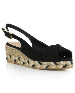 Brianda 30 cross strap canvas sandals CASTANER