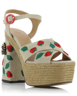 Angelina strawberry pattern platform sandals CASTANER
