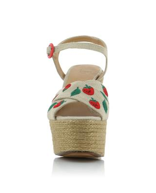 Sandales à plateau motif fraises Angelina CASTANER