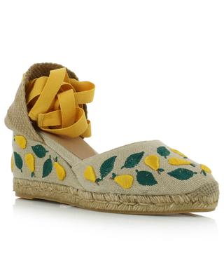 Carina pear embroidered wedge espadrilles CASTANER