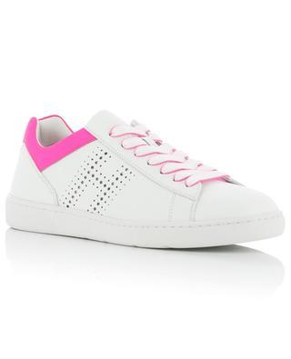 Sneakers aus Leder mit Neon-Detail H327 HOGAN
