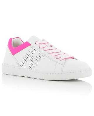 H327 neon detail leather sneakers HOGAN