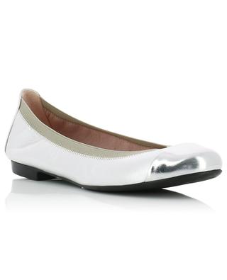 Shirley silver leather ballet flats PRETTY BALLERINAS