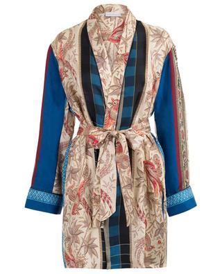 Kimono court en soie imprimé Aloe Ultrawash PIERRE LOUIS MASCIA