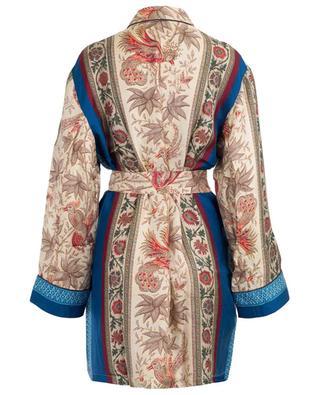 Aloe Ultrawash short printed silk kimono PIERRE LOUIS MASCIA