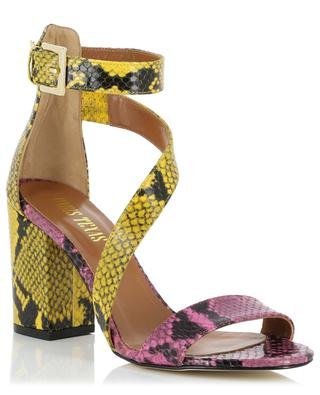 Python-effect leather sandals PARIS TEXAS