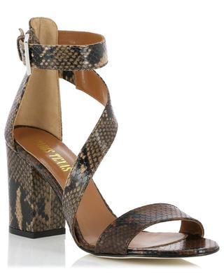 Sandales en cuir effet python PARIS TEXAS