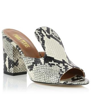Python-effect leather mules PARIS TEXAS