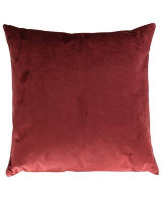 Berlingot square linen and velvet cushion IOSIS