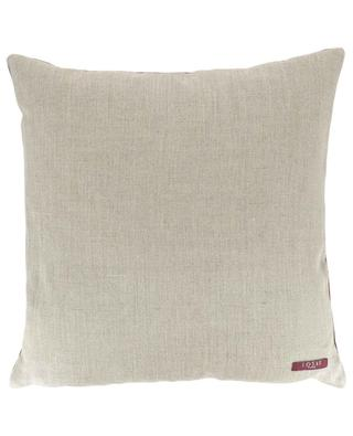 Berlingot square linen and velvet cushion IOSIS
