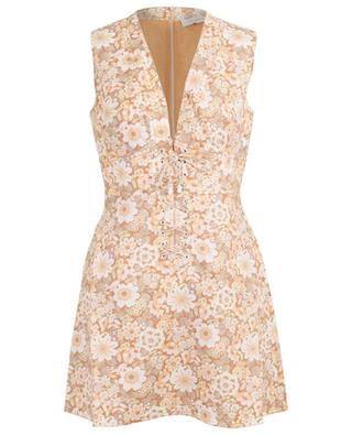 Zippy Lace Up sleeveless floral dress ZIMMERMANN