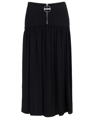 Wool and silk pleated midi skirt GIVENCHY