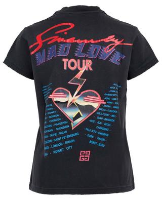 Used-Look-T-Shirt mit Print Mad Love Tour GIVENCHY