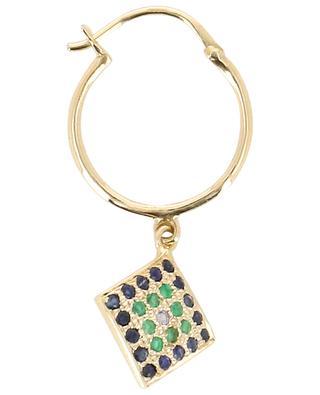 Einzelner Ohrring aus Gold Sasha 1 Bleu SOPHIE D'AGON