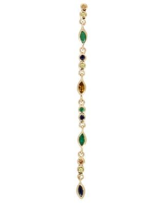Mono-pendant d'oreille en or 1 Gaia Vert SOPHIE D'AGON