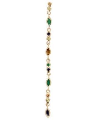 Einzelner Ohrhänger aus Gold 1 Gaia Vert SOPHIE D'AGON